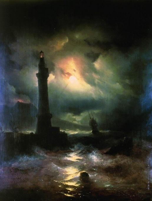 Айвазовский И. К. Неаполитанский маяк