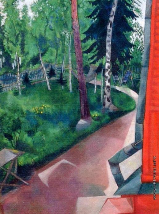 Шагал М. З. Задний двор летнего дома