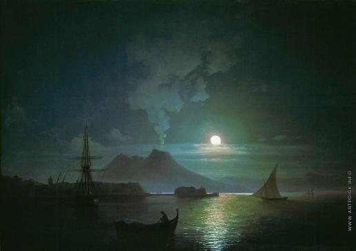 Айвазовский И. К. Неаполь в лунную ночь. Везувий