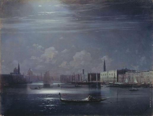 Айвазовский И. К. Ночной пейзаж. Венеция