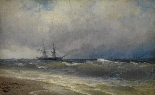 Айвазовский И. К. Корабль в шторм
