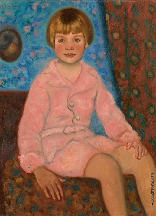 Синезубов Н. В. Портрет ребёнка в розовом