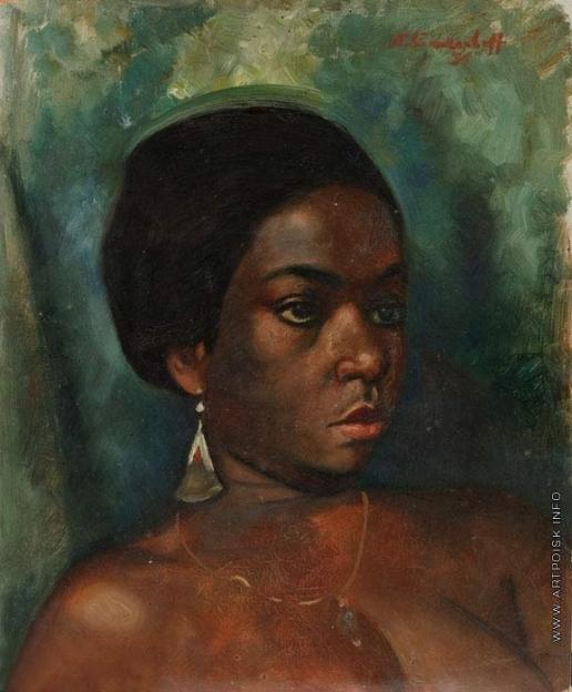 Синезубов Н. В. Портрет африканской девушки с золотой сережкой