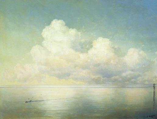 Айвазовский И. К. Облака над морем. Штиль