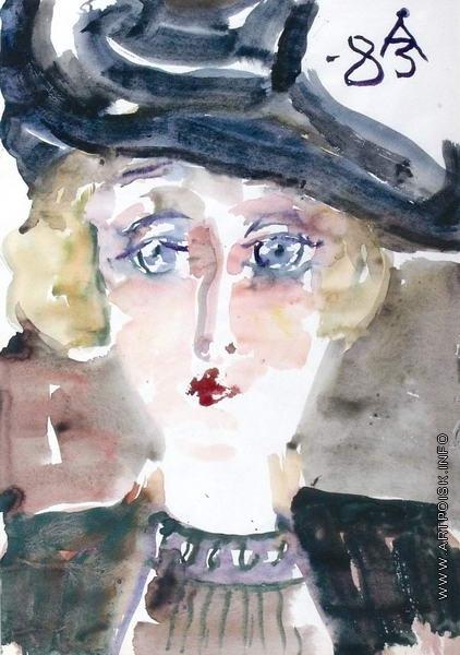 Зверев А. Т. Портрет женщины в шляпке