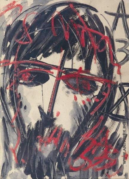 Зверев А. Т. Портрет мужчины в черно-красном цвете