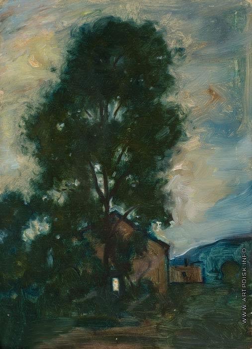 Синезубов Н. В. Пейзаж с деревом