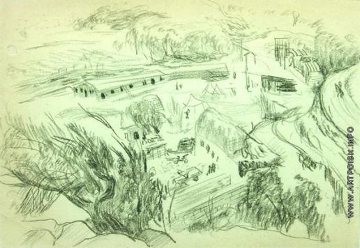 Древин А. Д. Вид на деревню с горы
