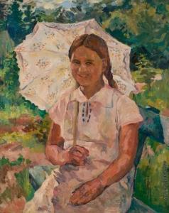 Лентулов А. В. Девочка с зонтиком