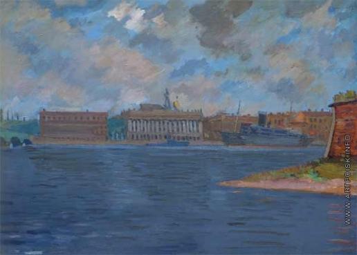 Русаков А. И. Вид на Неву с Петропавловской крепости
