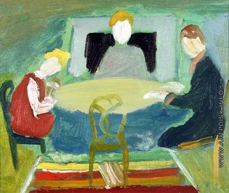 Ланской А. М. Семья за столом