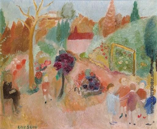 Ланской А. М. Дети в летнем саду
