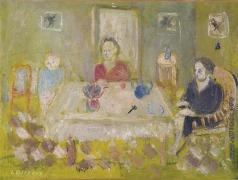 Ланской А. М. Семья у стола