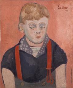 Ланской А. М. Портрет мальчика в красных подтяжках