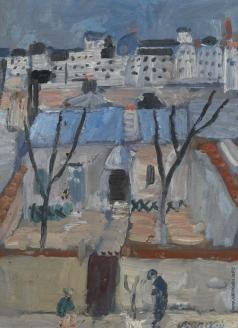 Ланской А. М. Городской пейзаж
