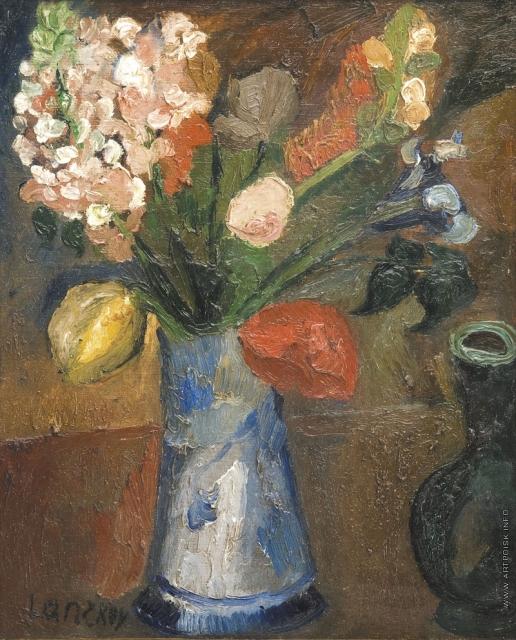 Ланской А. М. Букет в голубой вазе