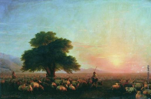 Айвазовский И. К. Отара овец (Стадо овец)