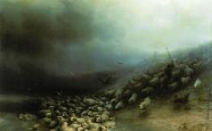 Айвазовский И. К. Отара овец в бурю