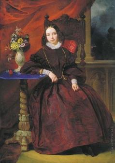 Басин П. В. Портрет Ольги Владимировны Басиной, жены художника