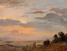Басин П. В. Вечерние облака. Окрестности Рима