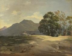 Басин П. В. Вечерний пейзаж в песчаной местности