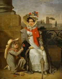 Басин П. В. Портрет неизвестной с девочкой