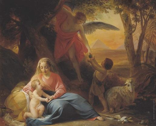 Басин П. В. Отдых святого семейства на пути в Египет