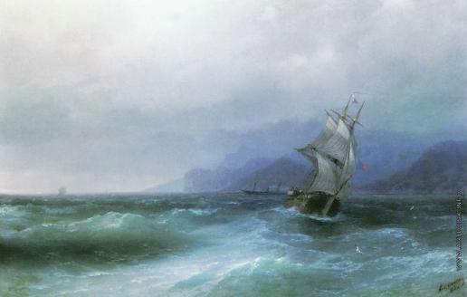 Айвазовский И. К. Парусник в море