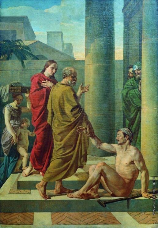 Шебуев В. К. Апостолы Петр и Иоанн исцеляют хромого