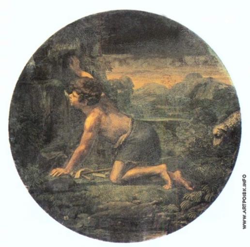 Шебуев В. К. Иоанн Креститель в пустыне, пьющий из источника воду