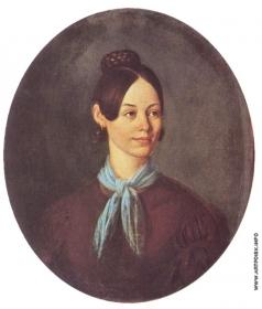 Шебуев В. К. Портрет неизвестной в коричневом платье