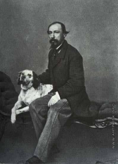 Тулинов М. Б. Некрасов Н.А. со своей охотничьей собакой