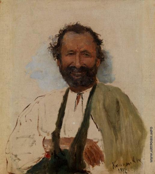 Репин И. Е. Портрет мужчины с перевязанной рукой
