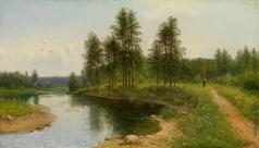 Федоров С. Ф. Речной пейзаж со стофажем