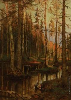 Федоров С. Ф. Осенний день в лесу