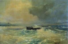 Айвазовский И. К. Перед Алупкой в Крыму (Лодка в море)