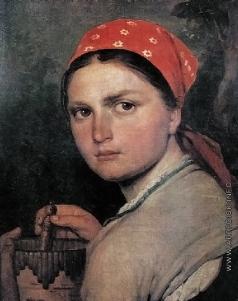 Венецианов А. Г. Девушка с бурачком