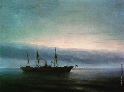 Айвазовский И. К. Перед боем. Корабль «Константин»