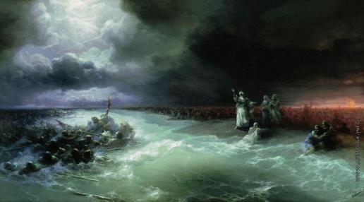 Айвазовский И. К. Переход евреев через Красное море