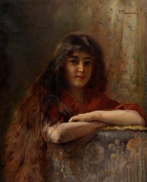 Маковский К. Е. Портрет юной девушки