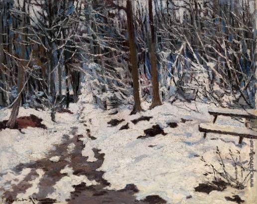 Альтман А. Зимний пейзаж