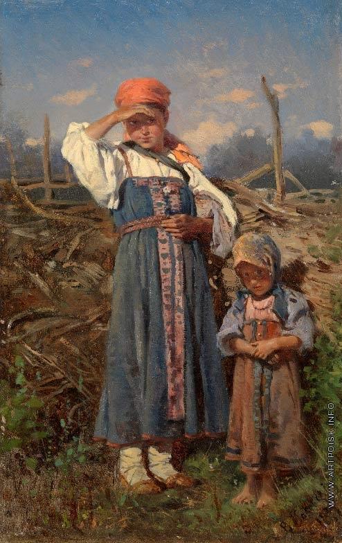 Маковский В. Е. Крестьянские девочки
