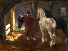 Исупов А. В. Лошади в конюшне