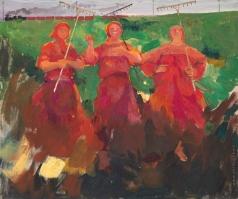 Малявин Ф. А. Три бабы с граблями