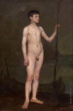 Новоскольцев А. Н. Мальчик с веслом