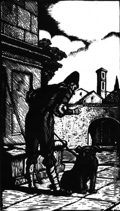 """Гончаров А. Д. Заставка к новелле П. Мериме """"Переулок госпожи Лукреции"""""""