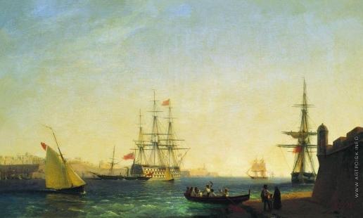 Айвазовский И. К. Порт ла Валетта на острове Мальта