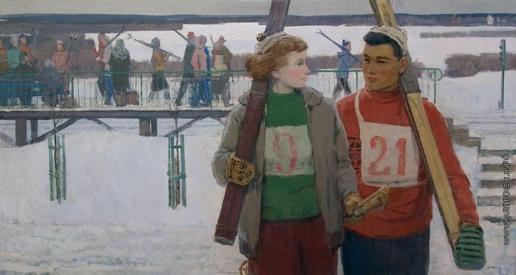 Никич А. Ю. Лыжники