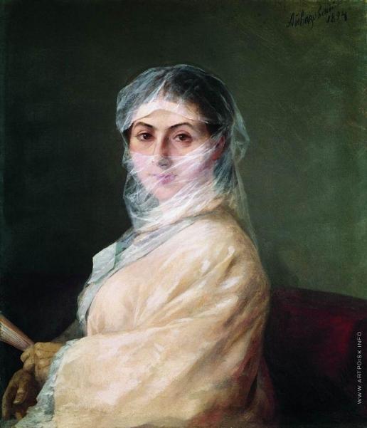 Айвазовский И. К. Портрет жены художника Анны Бурназян