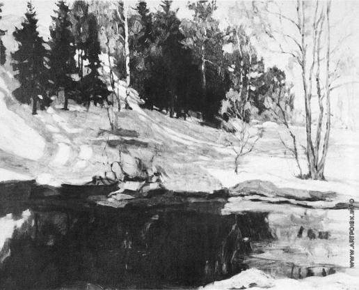 Жуковский С. Ю. В начале марта. Ранней весной